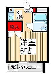 埼玉県富士見市針ケ谷2丁目の賃貸マンションの間取り