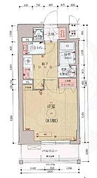 ベラジオ京都西院ウエストシティ3 4階1Kの間取り