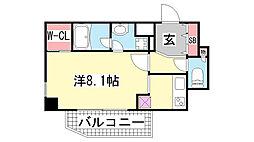 アーバネックス新神戸[401号室]の間取り