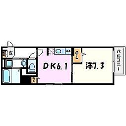 トレスオハス稲葉荘[2階]の間取り