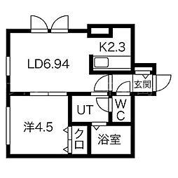 アユミリオン2・6[2階]の間取り