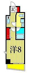 東京メトロ日比谷線 三ノ輪駅 徒歩4分の賃貸マンション 6階1Kの間取り