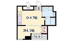 三國クリエート[6階]の間取り