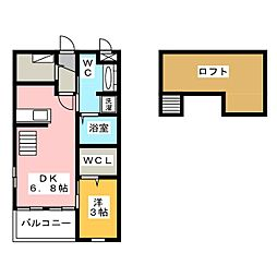 BROOK SIDE[2階]の間取り