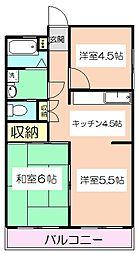 東京都板橋区高島平2丁目の賃貸マンションの間取り