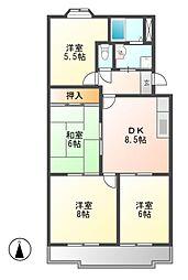 フロイデ小賀須[4階]の間取り