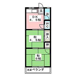 第1トミエマンション[3階]の間取り
