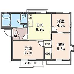 ライフタウニーA街区 4号棟[2階]の間取り