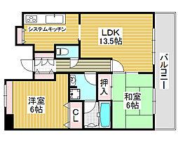 堺北パークホームズ[6階]の間取り