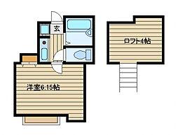 埼玉県新座市栗原3の賃貸アパートの間取り