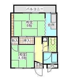 通商第3ビル[413号室]の間取り