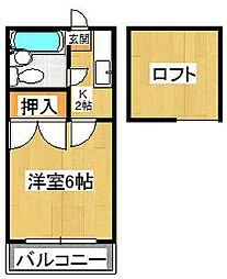 メゾン宮崎[206号室]の間取り