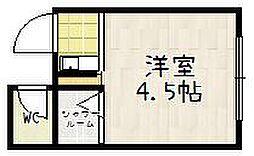 鴨川ハイツ[203号室]の間取り