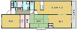 サンリベルテ若園[3階]の間取り