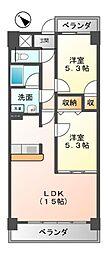 クレアートノムラ(CREART NOMURA[5階]の間取り