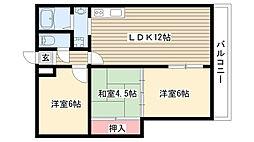 愛知県名古屋市名東区牧の里3丁目の賃貸マンションの間取り
