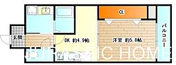 大阪府堺市堺区宿院町西3丁の賃貸マンションの間取り