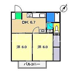 イーストハイツ(西秦泉寺)[1階]の間取り