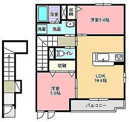 グリーン・ローズ壱番館[2階]の間取り