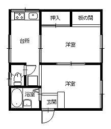 長崎県長崎市出雲2丁目の賃貸アパートの間取り