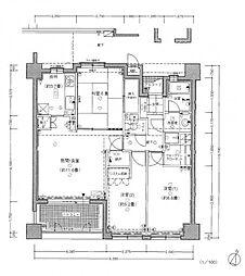 南薬院パークホームズ[8階]の間取り