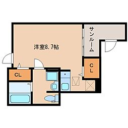 静岡県静岡市駿河区中吉田の賃貸アパートの間取り