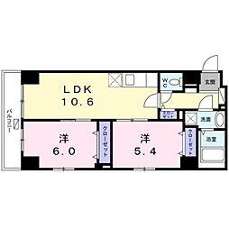 東京メトロ東西線 葛西駅 徒歩10分の賃貸マンション 1階2LDKの間取り