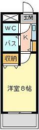 Bergamotto吉野町(ベルガモット吉野町)[907号室]の間取り