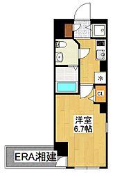 ガラ・シティ横浜西口[1110号室]の間取り