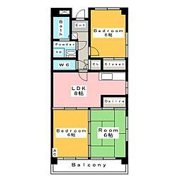 アートマンション (ARTマンション)[3階]の間取り