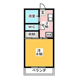竜美東SKYHILLS7[2階]の間取り