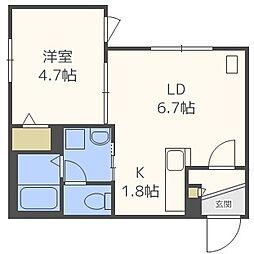 INFINITY東札幌II[3階]の間取り