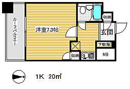 藤和シティコア神戸中道通[8階]の間取り