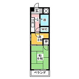 フローラ新藤[2階]の間取り