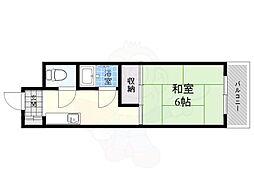 第12いほり都島マンション 3階1Kの間取り