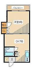 東京都中野区弥生町3丁目の賃貸アパートの間取り