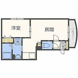 北海道札幌市豊平区中の島二条5丁目の賃貸マンションの間取り