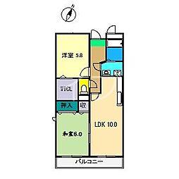 エナール クマザワ[1階]の間取り