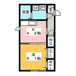 D maison 西崎[2階]の間取り
