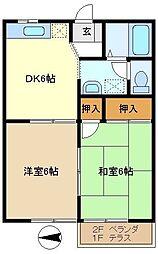 メゾン豊B[2階]の間取り