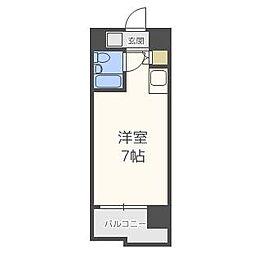 ロマネスクL六本松[3階]の間取り