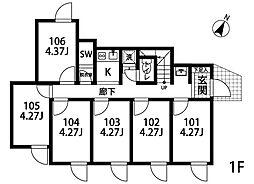 大泉学園[203号室]の間取り