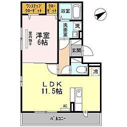 シリエジオ甲子園六番館[2階]の間取り