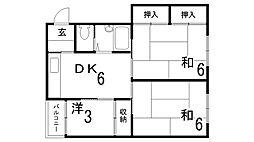 鈴蘭ハイツ[2階]の間取り
