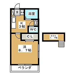 ロフトハウスA[1階]の間取り