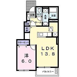 メゾン ララリ[0102号室]の間取り