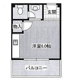 プチシャトー徳井[4階]の間取り
