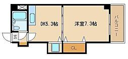 兵庫県加古川市加古川町河原の賃貸マンションの間取り