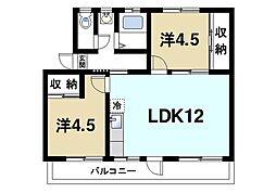 山口マンション[2階]の間取り