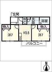 チェリー中央[2階]の間取り